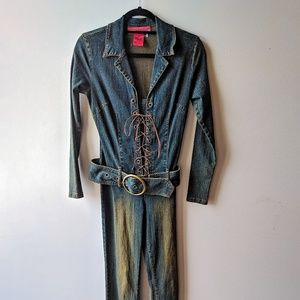 Hot Kiss Denim Catsuit